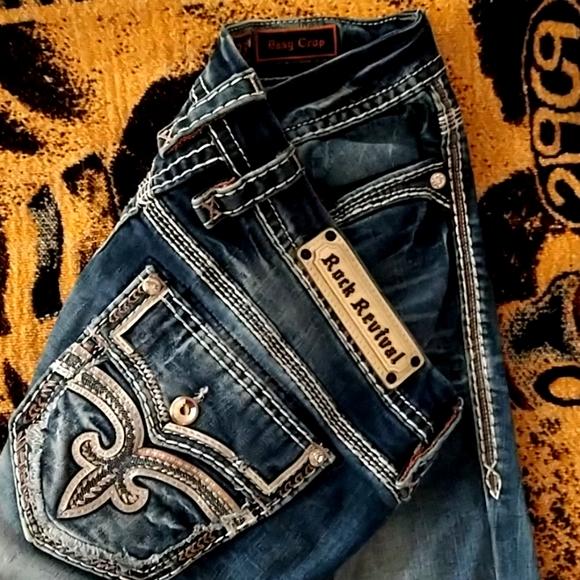 Rock Revival jeans easy crop size 33